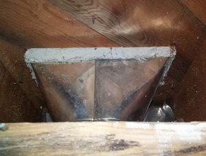 asbestos in a vent