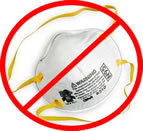A paper mask does not provide useful protection from asbestos fibers.